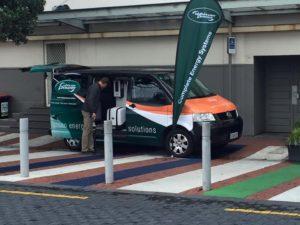 Van on display