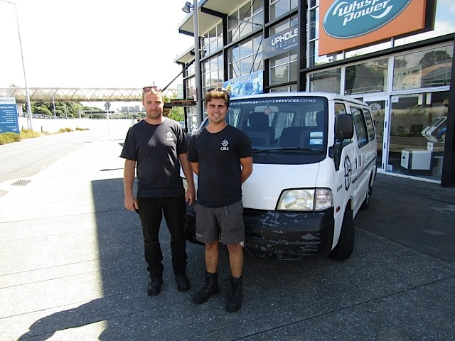 """The young team at """"Compass Marine"""" join as our service agent"""